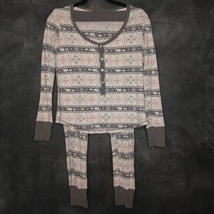 VICTORIA'S SECRET | Snowflake Thermal Pajamas XS